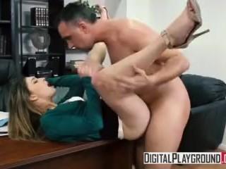 Stuffing The Student - Kristen Scott deepthroats her teacher