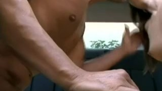 Car fucking brunette Asian slut cums on that cock