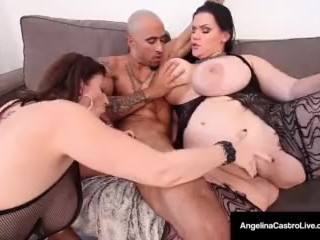 Cuban BBW, Angelina Castro & Sara Jay Are Submissive Slaves!