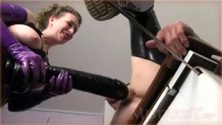 Huge Insertions Challenge  kink pegging strapon femdom