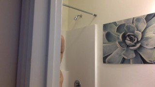 SPY ON MY SHOWER! big-boobs chubby bathroom-spy-cam big-tits bbw-teen