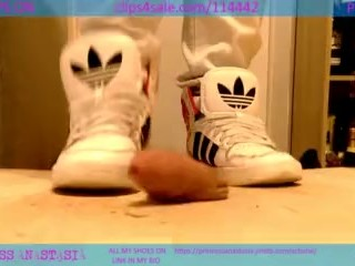 ADIDAS HIGH TOP COCK CRUSH AND SHOEJOB