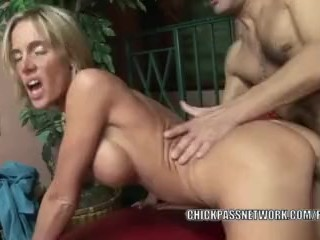Busty housewife Jordan Sinz fucks hard and gets a creampie