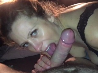 She cums on his cock, licks off her grool, then drinks down his sweet cum