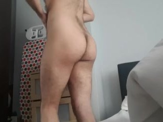 Cute twink shows off his curvy hot ass