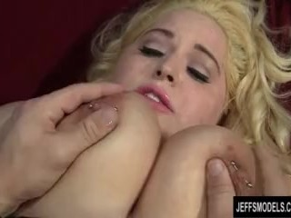 Blond BBW Uses Her Soft Flesh to Please a Guy