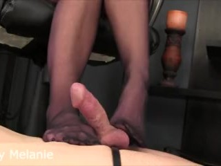 Intense pantyhose teasing