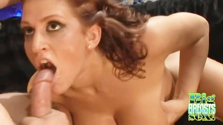 Eve Lawrence Gets A Jizzed On Her Tits