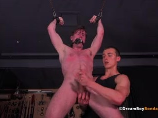 BDSM Gay Bondage Stud Whipped Cum Cropped Muscle Twink Gagged Bound
