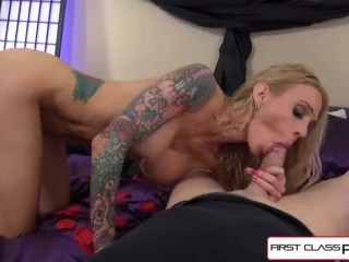 Sarah Jessie hair are wet and her pussy is ready to ride your fat cock