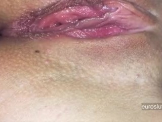 Orgasmic Contractions! Hot Young Slut Asshole Throbbing Sneaky Masturbation