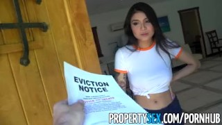 PropertySex - Hot Asian tenant with big tits fucks her landlord  asian babe sloppy blowjob point of view big tits landlord cumshot tattoo propertysex tenant hardcore eviction hottie deepthroat facial titty fuck landlord eviction