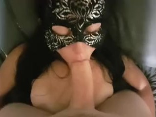 Cute Amateur Works Cock for Cum on Her Tits
