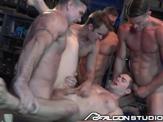 FalconStudios Hunks Get Hazed in Ass Slam Orgy