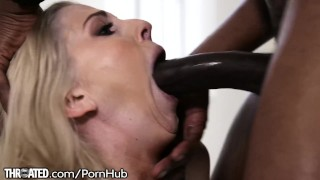Throated Christie Stevens Swallows HUGE BBC!