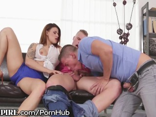 Superb Bisexual Gang bang Flick BiEmpire Does he Like Young men More than Young ladies!?