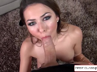 Melissa Moore takes a big cock and a super load all over her Face