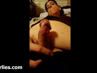 shemale masturbating in mirror close up cum shot