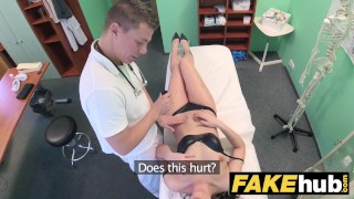 Preview 5 of Fake Hospital Frisky shaven pussy Russian babe loves docs cock