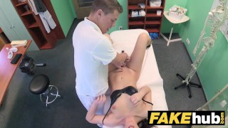 Preview 6 of Fake Hospital Frisky shaven pussy Russian babe loves docs cock