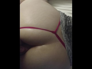 Girlfriend fucked doggy in pussy and ass creampie