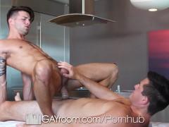 GayRoom Massage turns into hot fuck with Casey Everett and Ryan Pitt