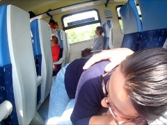 Extreme in Train : Public Blowjob and...