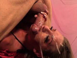 slobjobz - cali carter engulfs cock with ease down her deep silky throat!
