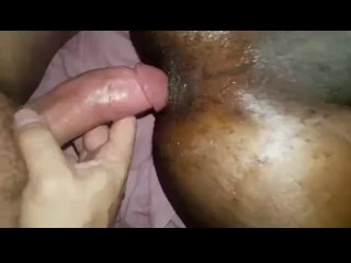 Taking a big white dick