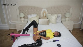 Anisyia Livejasmin fucking machines yellow latex suit fetish  big round tits latex anal small waist big ass big ass fitness model camgirl huge tattoo uniforms rough sex kink kylie jenner big boobs big butt romania fucking machines destruction