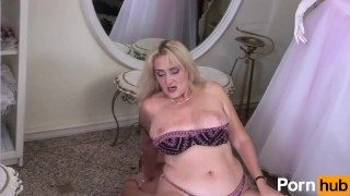 grandma milf mommy oral sex blowjob fetish kink big dick face fuck big tits natural tits deep throat blonde from behind rough sex high heel boots