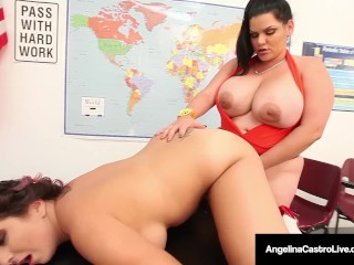 42f bbw angelina castro amp gia love do school girl strapon 1