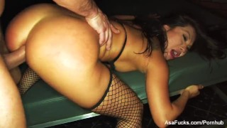 Asian hottie Asa Akira teases and takes it in the ass  asa akira ass fuck doggy style assfuck tease asian puba tattoo skinny missionary hardcore squirting japanese brunette asafucks anal cream pie porn star