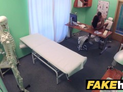 Fake Hospital Doctors thick dick stretches hot Portuguese pussy lips