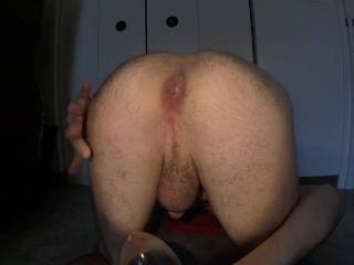 Huge butt plug with gape