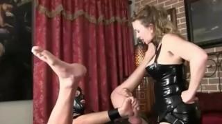 femdom latex mature milf mistress fucks big huge strapon anal slave  strapon guy ass fuck strapon boots redhead fe
