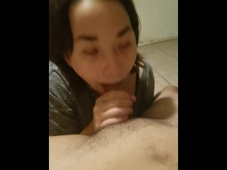 Blowjob with Facial and cum swallowing