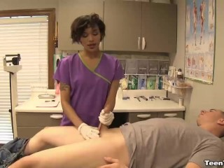 Sexy nurse cum extraction