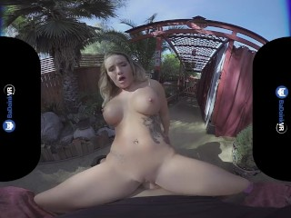 Cali Carter in Virtual Reality gets Fucked Outdoors