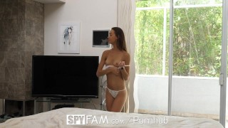 SpyFam Sneaky step sister Charity Crawford slithers into step brothers bed  step sister charity crawford hd blowjob small tits fetish hardcore brunette sex spy facial spyfam 4k 60fps stepsister step brother