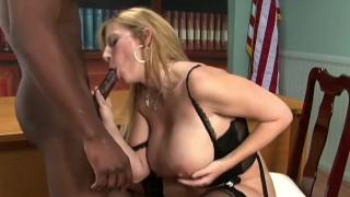 Busty Big Tits Uber Whore SARA JAY Fucks BBC Big Black Cock! Nice! A++