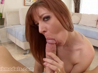 Busty Big Tits MILF Cougar LEXI LAMOUR Huge Cock Blowjob and Facial! A++