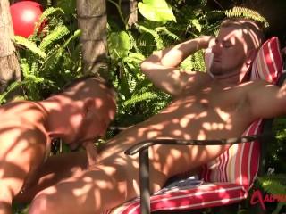 sun tanned hunks shoot their loads - miami