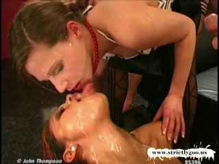 queen of goo viktoria and her exotic friend perla in cum arena
