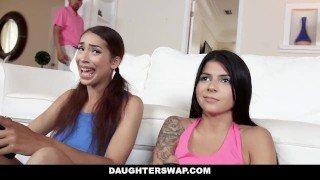 DaughterSwap - Gamer Teen Fucked By Older Dad  doggy style kitty catherine big cock teen small tits hardcore brunette gamer daughter latina shaved daughterswap latin cum shot dad sadie pop