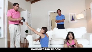 DaughterSwap - Gamer Teen Fucked By Older Dad  doggy style kitty catherine big cock teen dad small tits hardcore brunette gamer latina shaved daughterswap latin cum shot daughter sadie pop