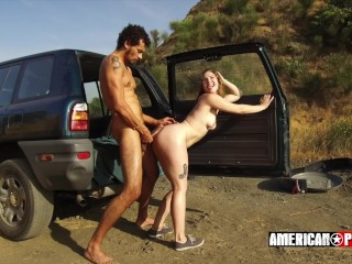 Top Babe Fuck Picture Ella Nova + Alex Jones' Roadside RimJob @ American-Pornstar
