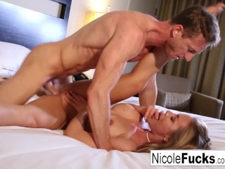 busty blonde nicole gets fucked in a hotel room