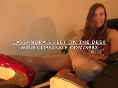 Cassandra's Feet on The Desk - www.c4s.com/8983/17862742
