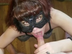 Kitty gets on her knee's to please ...... Explosive ending